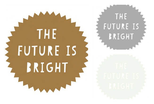 100 Percent Heart-Wall Decals-Large Future Is Bright Stickers