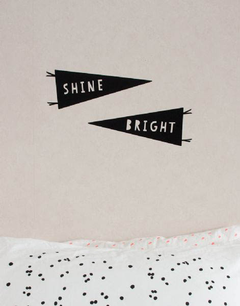 Large Shine Bright Stickers