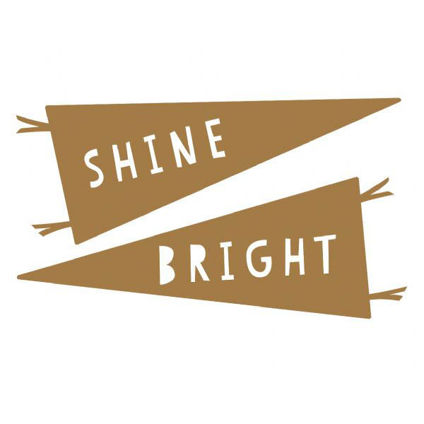 100 Percent Heart-Wall Decals-Large Shine Bright Stickers