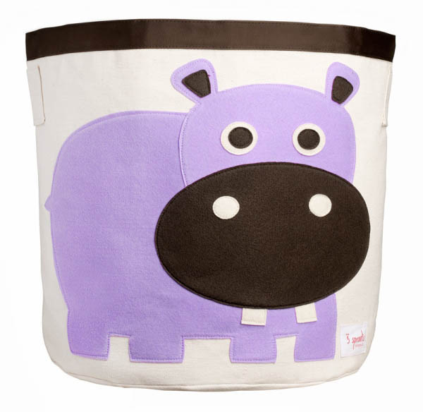 Storage Bin - Purple Hippo