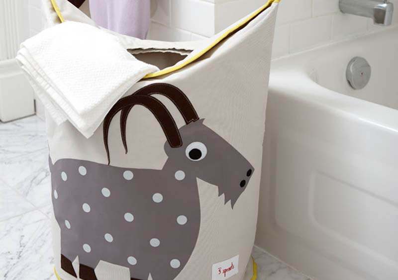 3 Sprouts Storage Solutions Swan Laundry Hamper