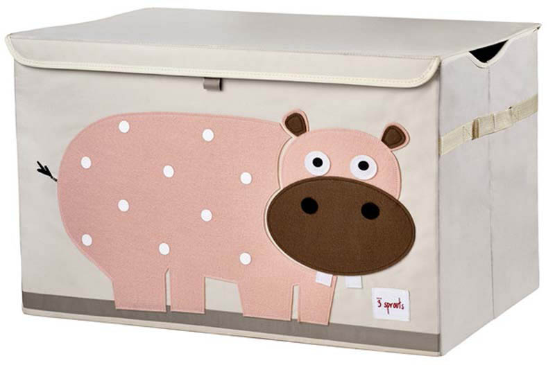 3 Sprouts Toy Chest - Pink Hippo