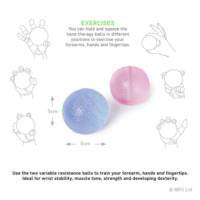 66fit Hand Therapy Ball-set of 2