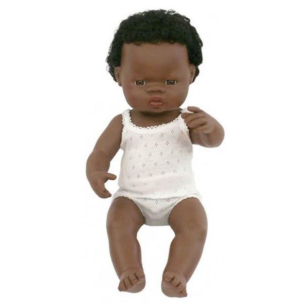 Miniland African Baby Boy Doll