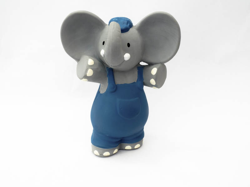 Alvin The Elephant Natural Rubber Squeaker Toy Teether