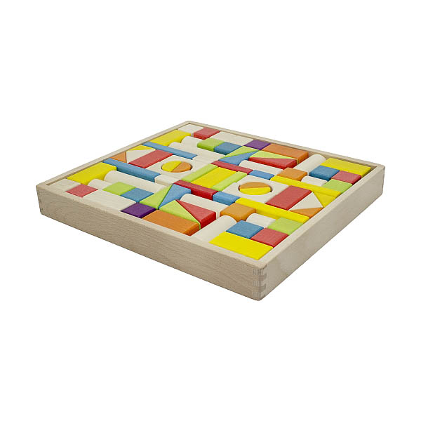 Artiwood - 74 piece Wooden Block Tray (with drawstring bag)