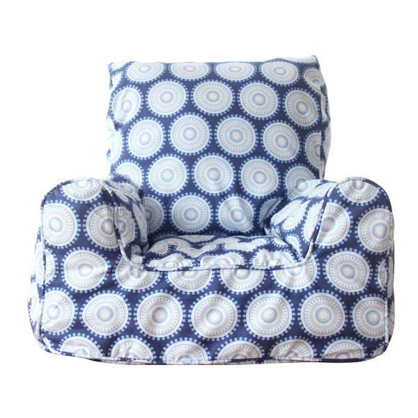 Lelbys-Kids Bean Bags-Bean Chair {Navy Freckles}