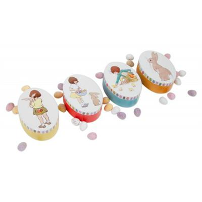 Belle and Boo Easter Oval Tin
