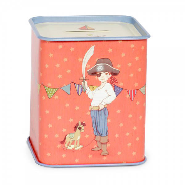 Belle and Boo- Gifts for Kids- Tin Money Box {Ellis}