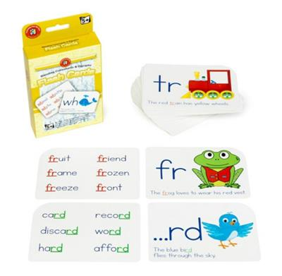 Blending Consonants and Digraphs Flash Cards