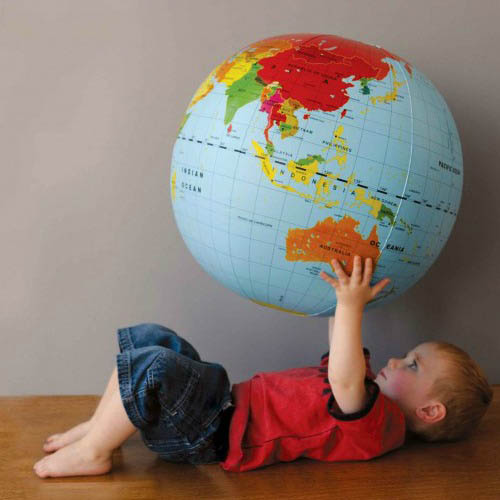 Tiger Tribe-Kids Toys- 50cms Inflatable World Globe