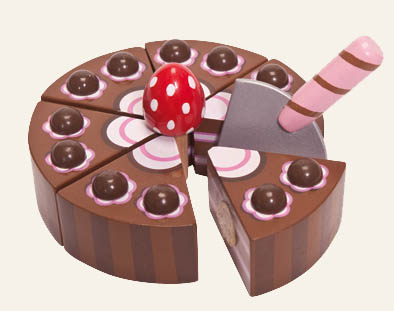 Le Toy Van- Wooden Toys- Chocolate Gateau Cake