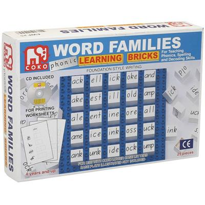 COKO Word Families Learning Bricks
