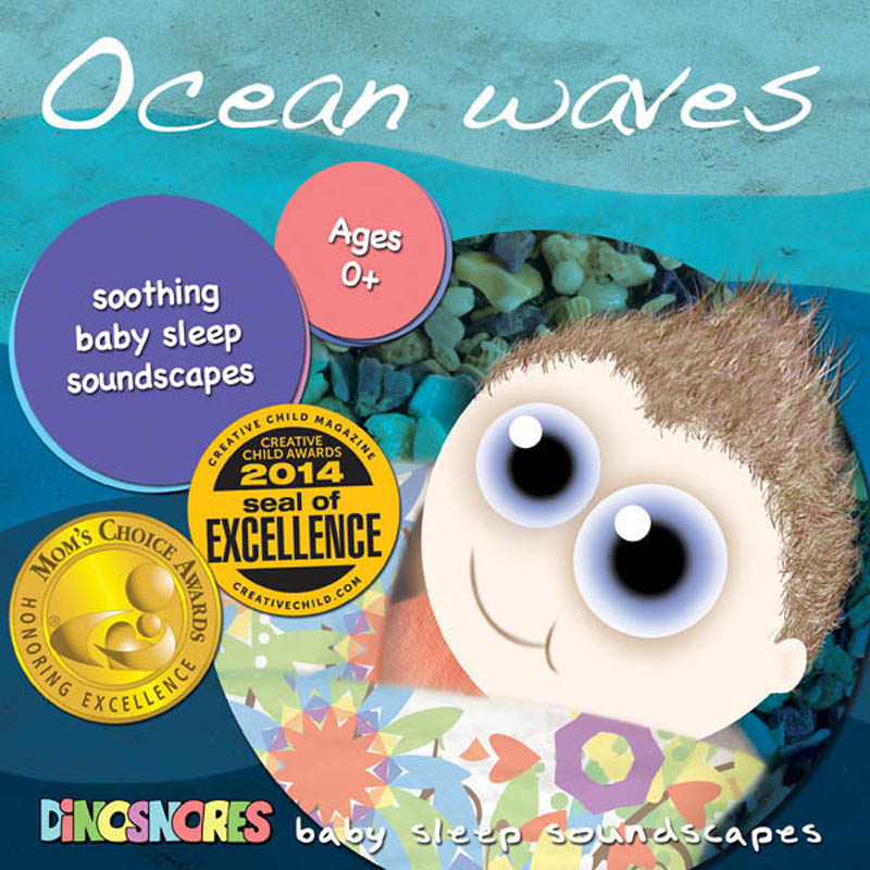Dinosnores- Sleep CDs for Babies-Sleepy Soundscapes {Ocean Waves}
