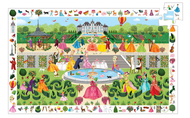 Djeco - Observe Garden Party Puzzle (100pc)