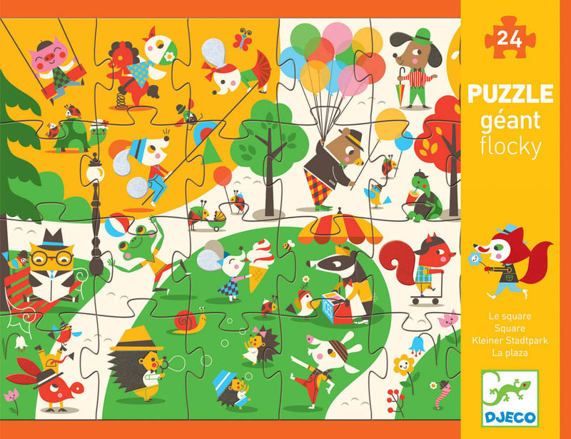 Djeco - Giant Flocky Puzzle-The Square (24pc)