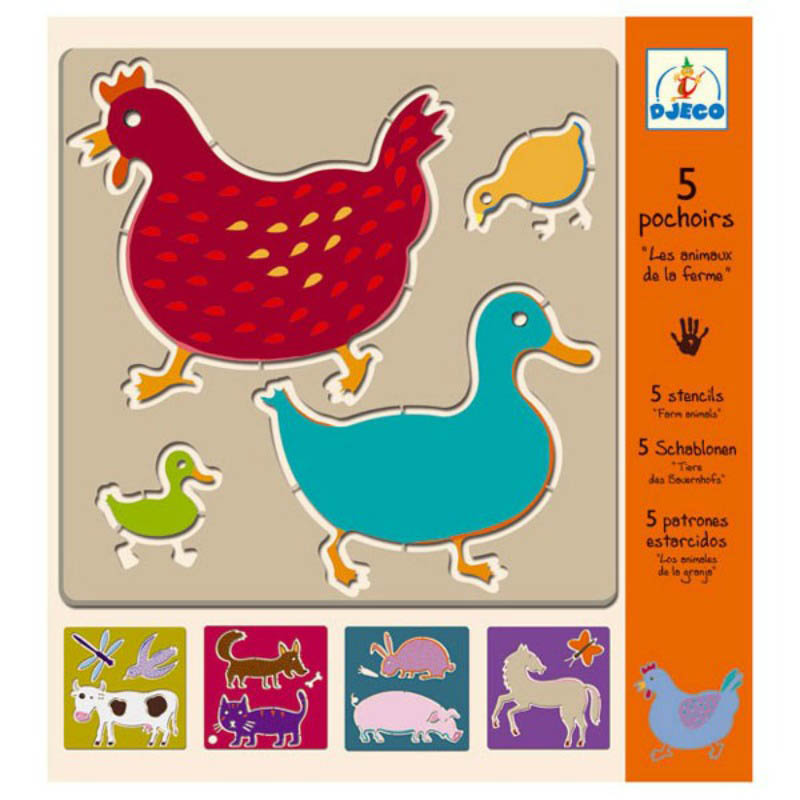 Djeco-Kids Art-Stencils {Farm Animals}