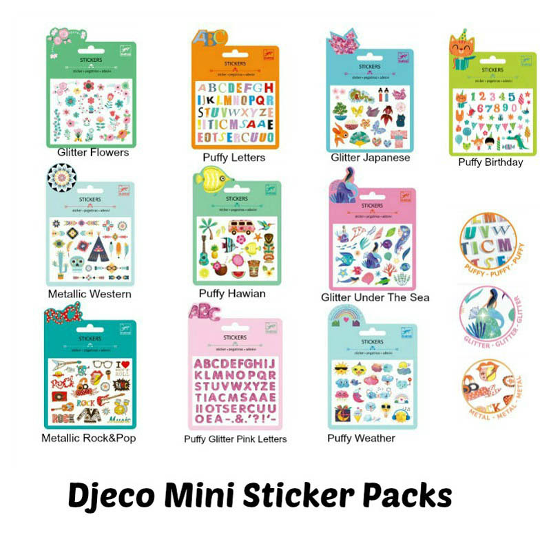 Djeco-Mini Stickers Packs