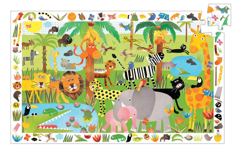 Djeco - Observe Jungle Puzzle (35pc)