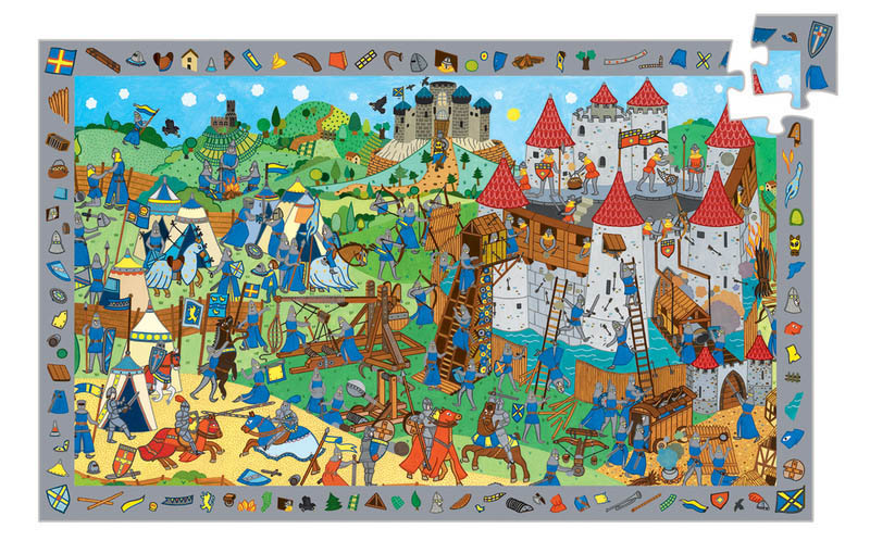 Djeco - Observe Knights Puzzle (54pc)