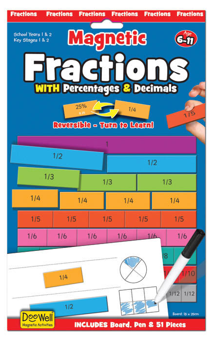 Doowell- Kids Learning Toys- Magnetic Fractions