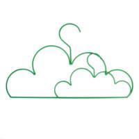 Green Cloud Coat Hanger