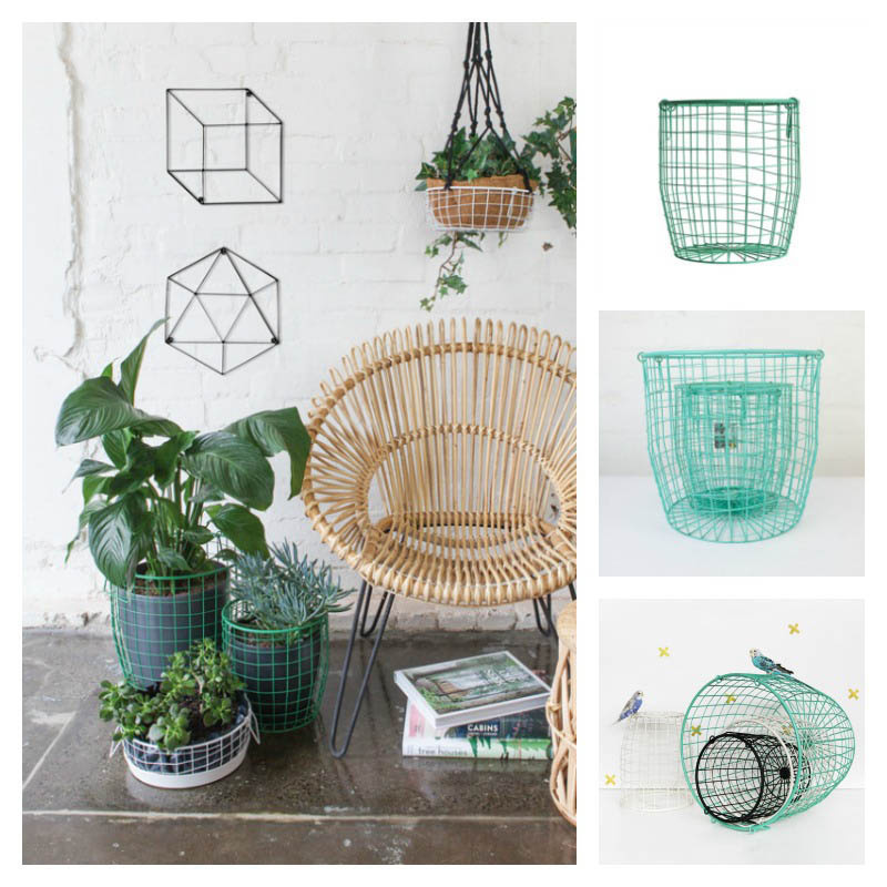 Down to the Woods- Wire Basket -  MEDIUM