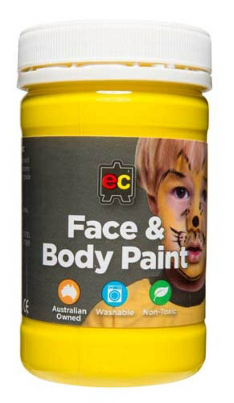 EC - Face and Body Paint - 175ml jar-Yellow