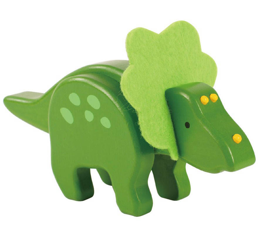 EverEarth- Wooden Toys- Bamboo Dinosaurs {Triceratops}