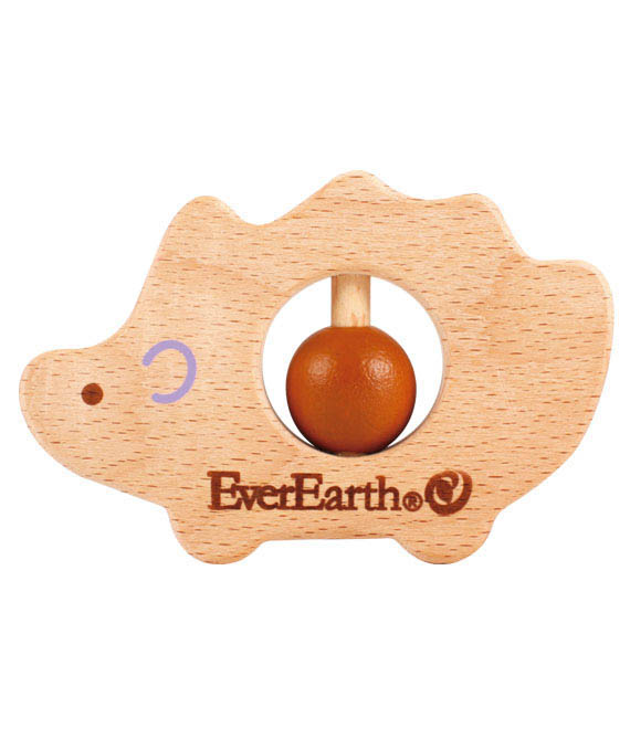 EverEarth-Wooden Toys for Babies-Hedgehog Grasping Toy