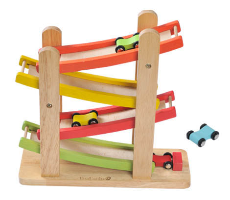 EverEarth Wooden Toys for Kids Ramp Racer XAUrc4QI