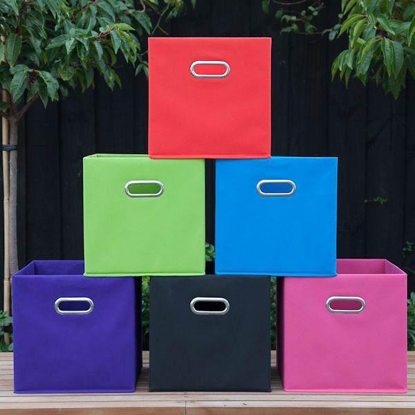 White 6 Cube Kids Toy Games Storage Unit Girls Boys: Fabric Cube Storage Boxes