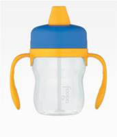 Foogo Soft Spout 235ml Sippy Cup with handles (phase 1) Blue