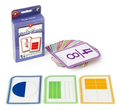 Fractions 1-11/12 Flash Cards