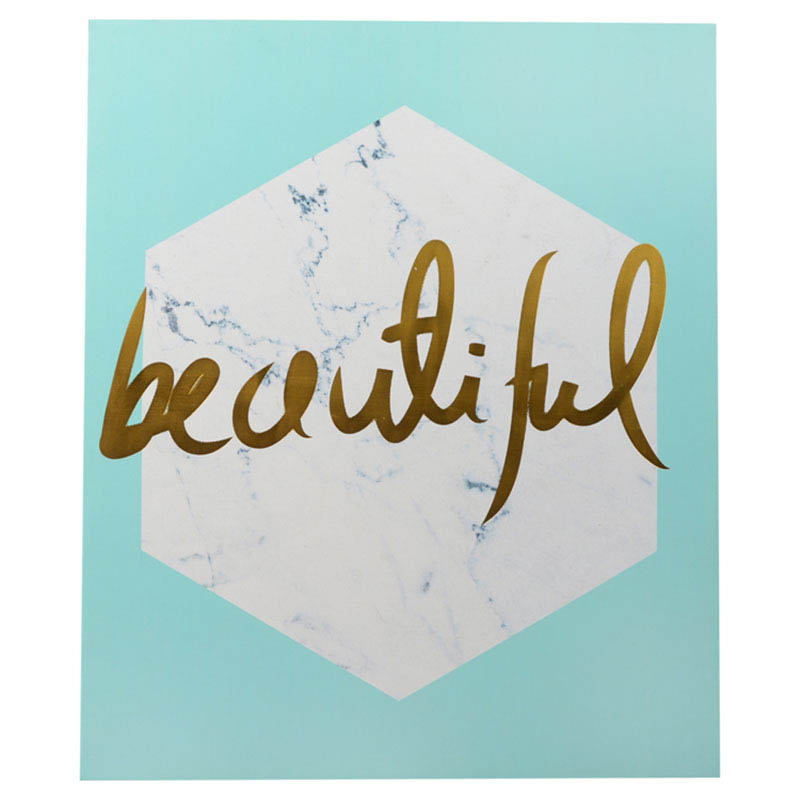 Habitat 101-Wall Decor-Gold Foil Canvas Art {Beautiful}