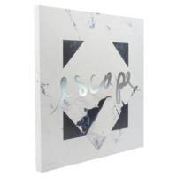 Silver Foil Canvas Art {Escape}