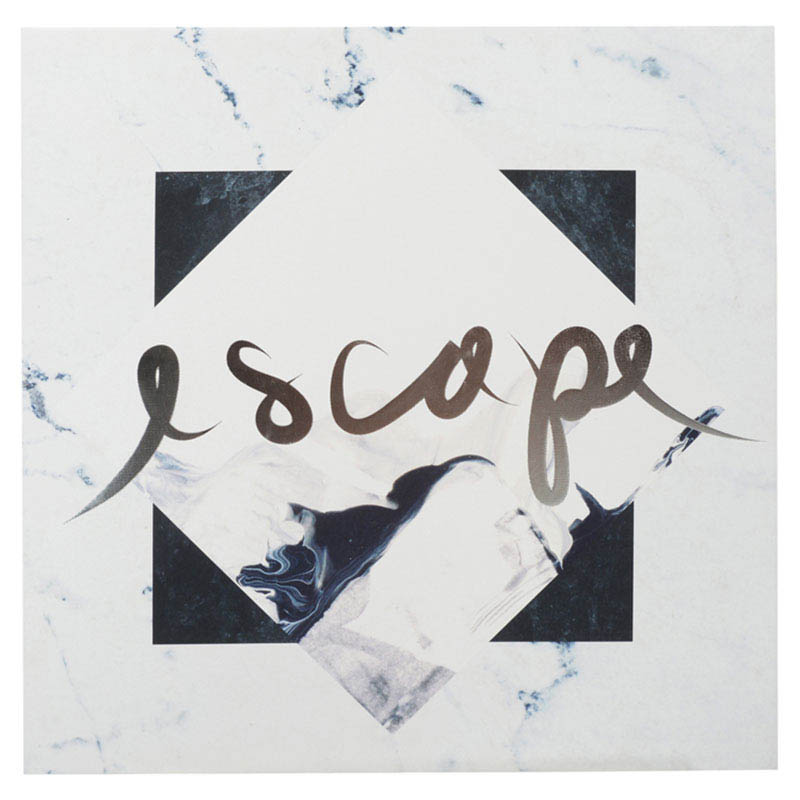 Habitat 101-Wall Decor-Silver Foil Canvas Art {Escape}