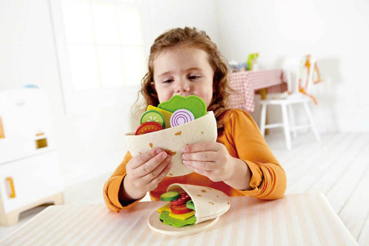 Hape-Wooden Play Food-Healthy Gourmet Pita Pocket