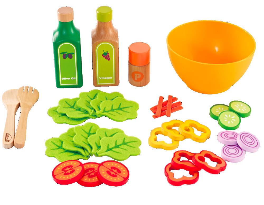 Hape-Wooden Play Food- Healthy Gourmet Salad