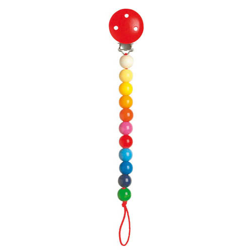 Heimess Dummy Chain - Wooden Rainbow Beads