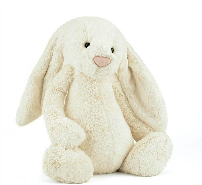 Jellycat Soft Toys - Bashful Cream Bunny - Huge