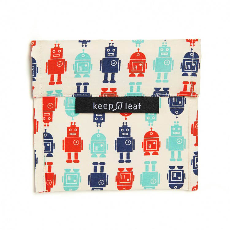 Keep Leaf Large Reuseable Sandwich bag - Robot