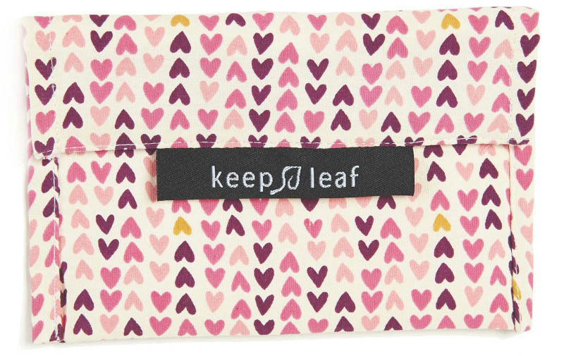 Keep Leaf Reuseable Baggie Small - Hearts