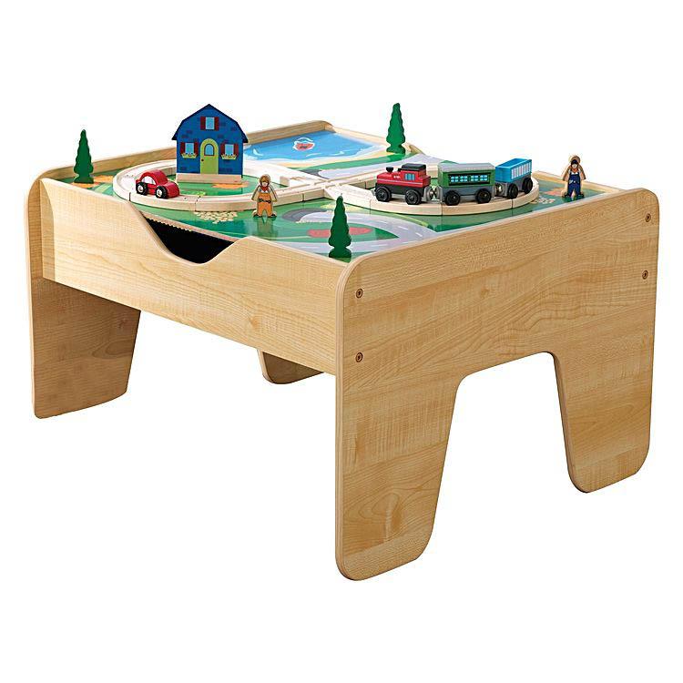kidkraft 2 in 1 activity table blocks and train set. Black Bedroom Furniture Sets. Home Design Ideas