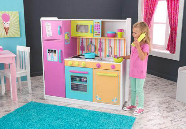 KidKraft-Kids Play Kitchens-Deluxe Big and Bright Kitchen