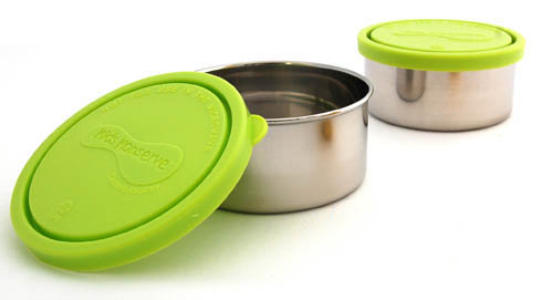 Kids Konserve Medium Round Container ~Lime