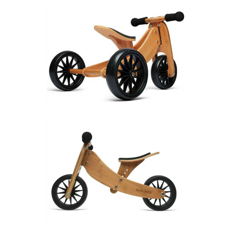 Kinderfeets Tiny Tot 2 in 1 Balance Bike - Bamboo
