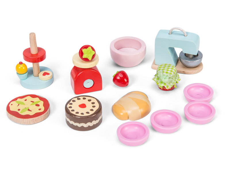 Le Toy Van-Kids Dollshouse Furniture-Make&Bake Kitchen Accessories