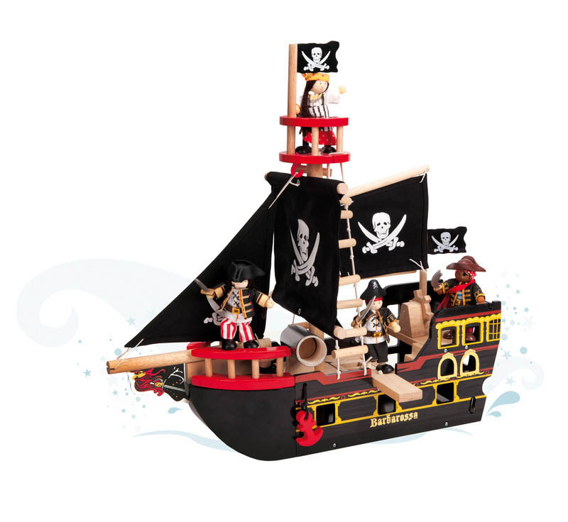 Le Toy Van-Kids Wooden Toys-Barbarossa Pirate Ship