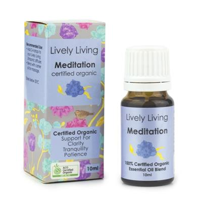 Lively Living 100% Certified Organic Essential Oil Meditation
